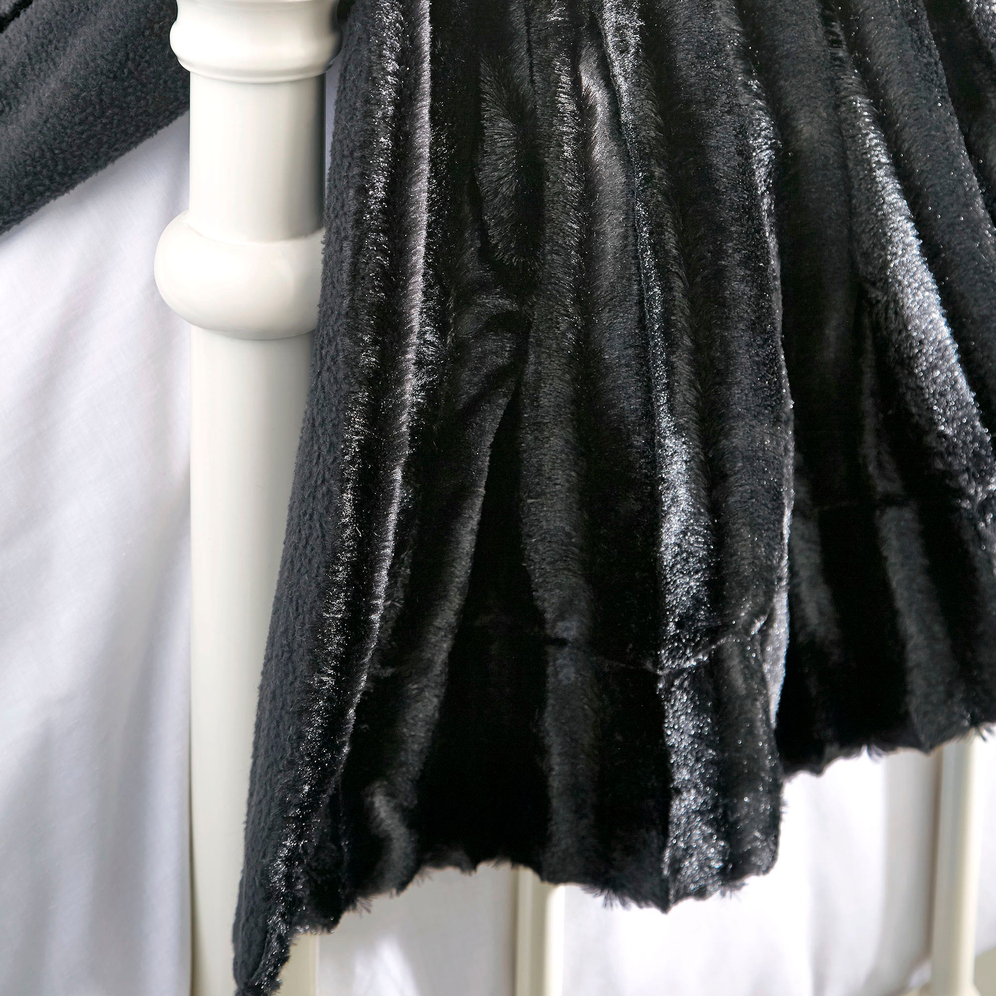 Black Plush Throw