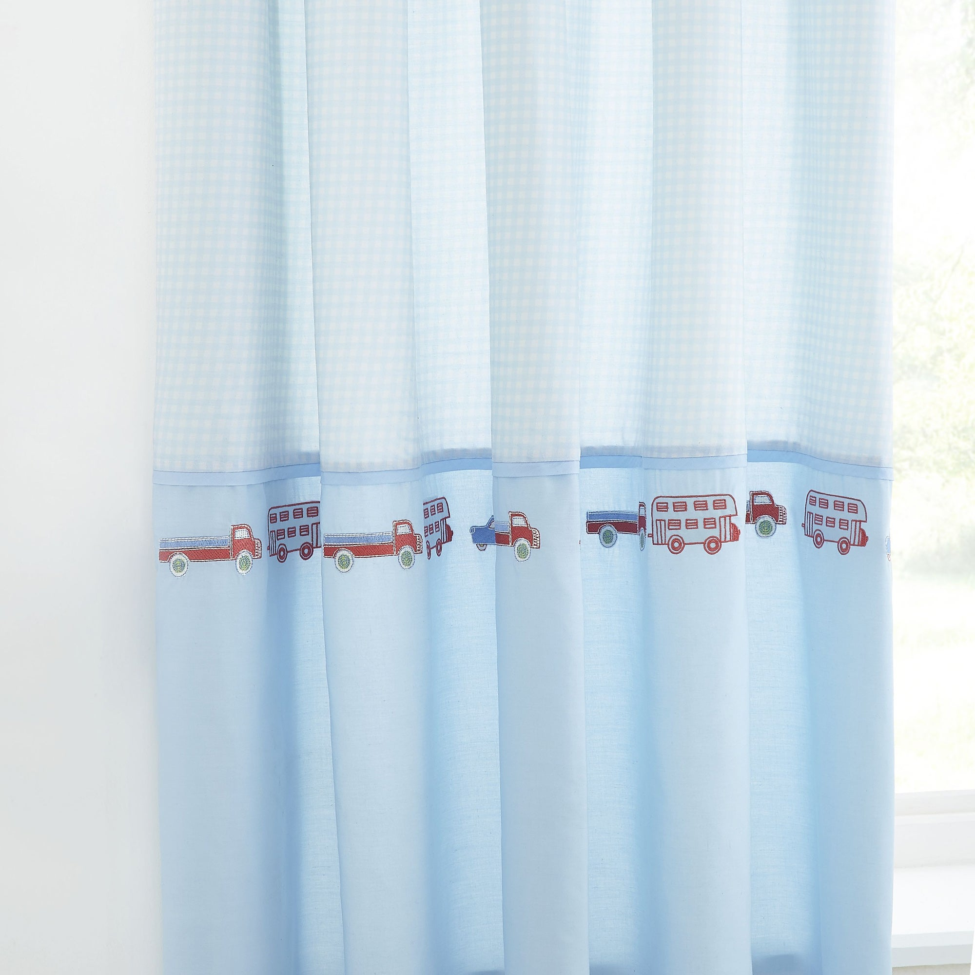 Kids All Aboard Blackout Pencil Pleat Curtains