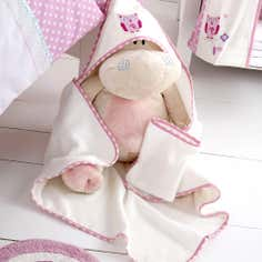 Kids Darling Deer Collection Cuddle Robe and Mitt