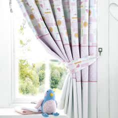 Kids Lil Birdy Collection Blackout Pencil Pleat Curtains