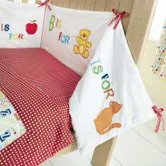 Kids Loveable Letters Collection Coverlet and Bumper