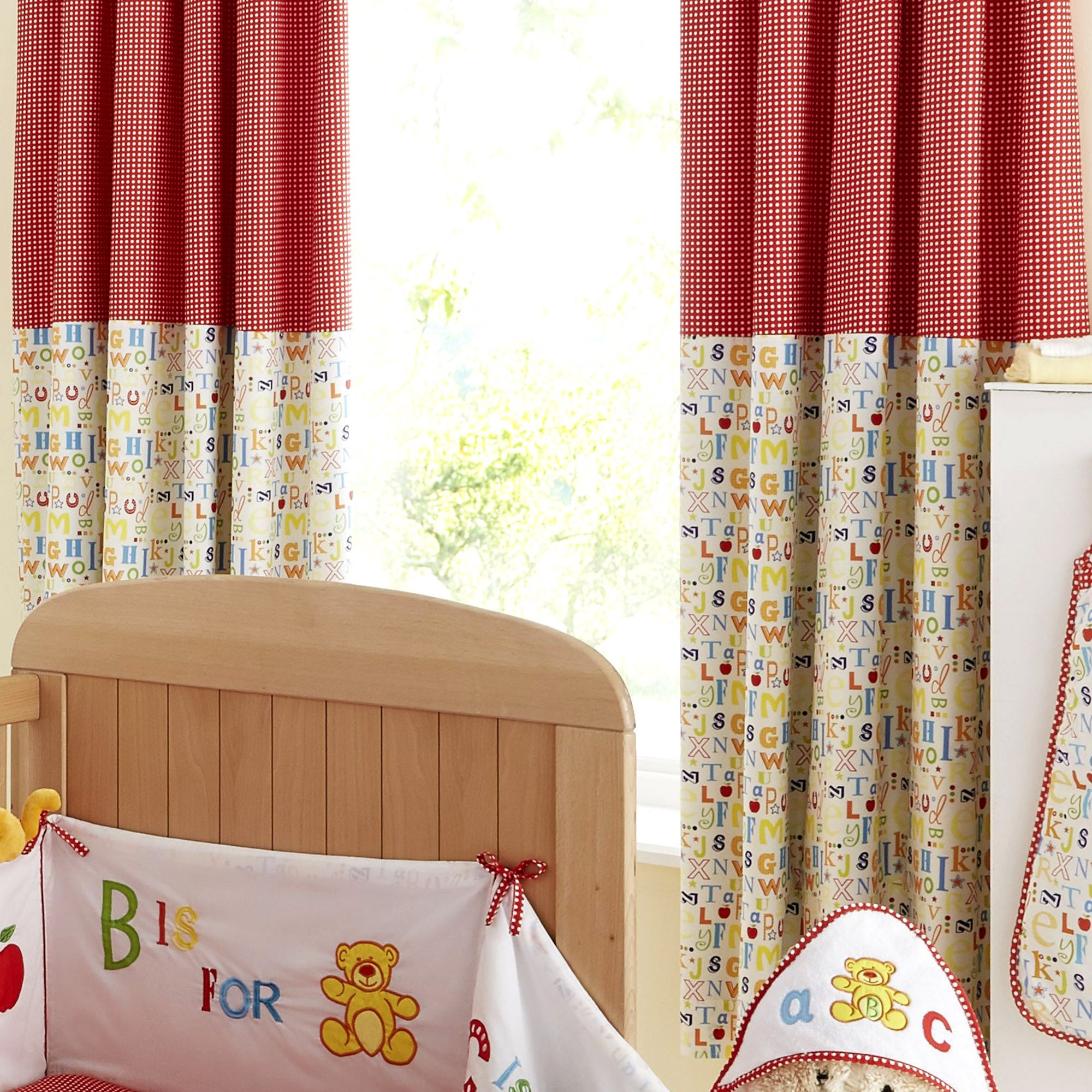 Kids Loveable Letters Blackout Pencil Pleat Curtains