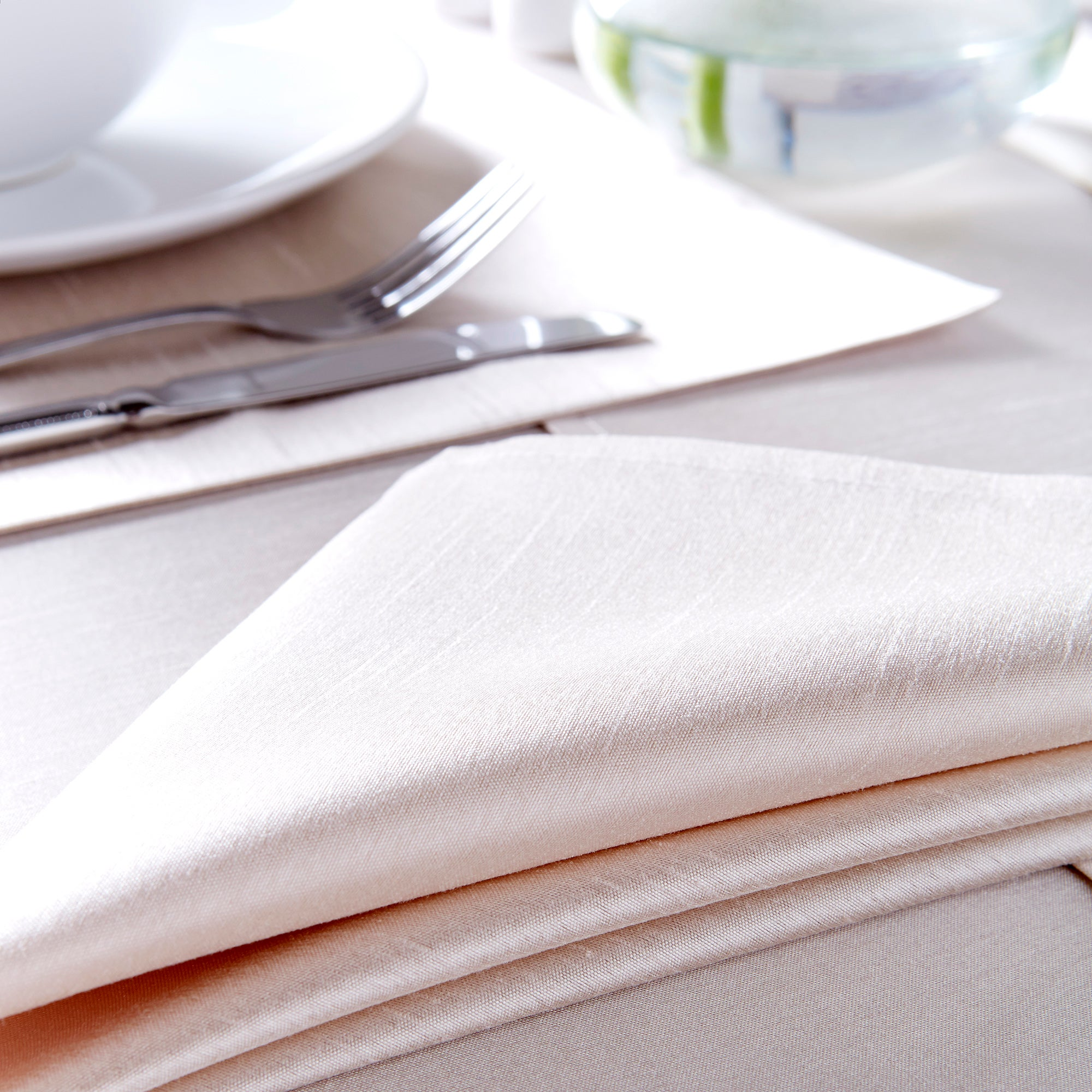 Set of 4 Faux Silk Napkins