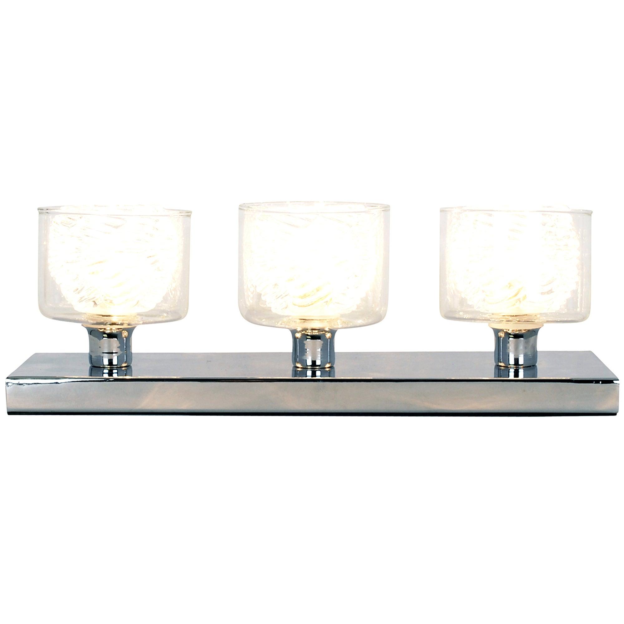 Myla Double Glass 3 Light Table Lamp