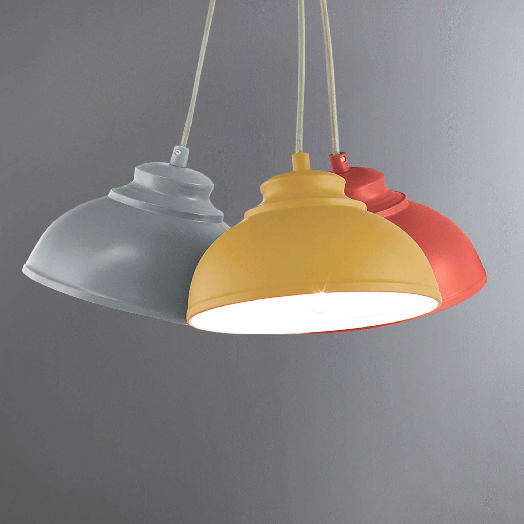 Cosy Skandi Collection 3 Galley Shade Cluster Ceiling Light Fitting