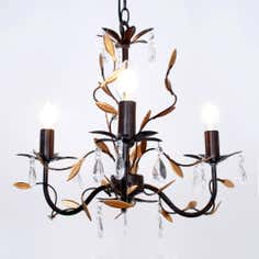 Bronze and Gold Ashford 3 Light Chandelier