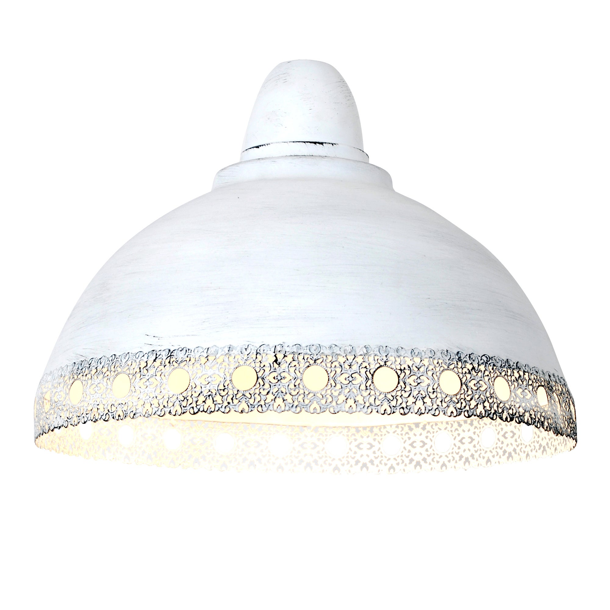 Chateau White Coated Pendant