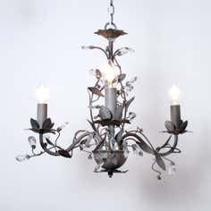 Grey Chateau 3 Light Fitting