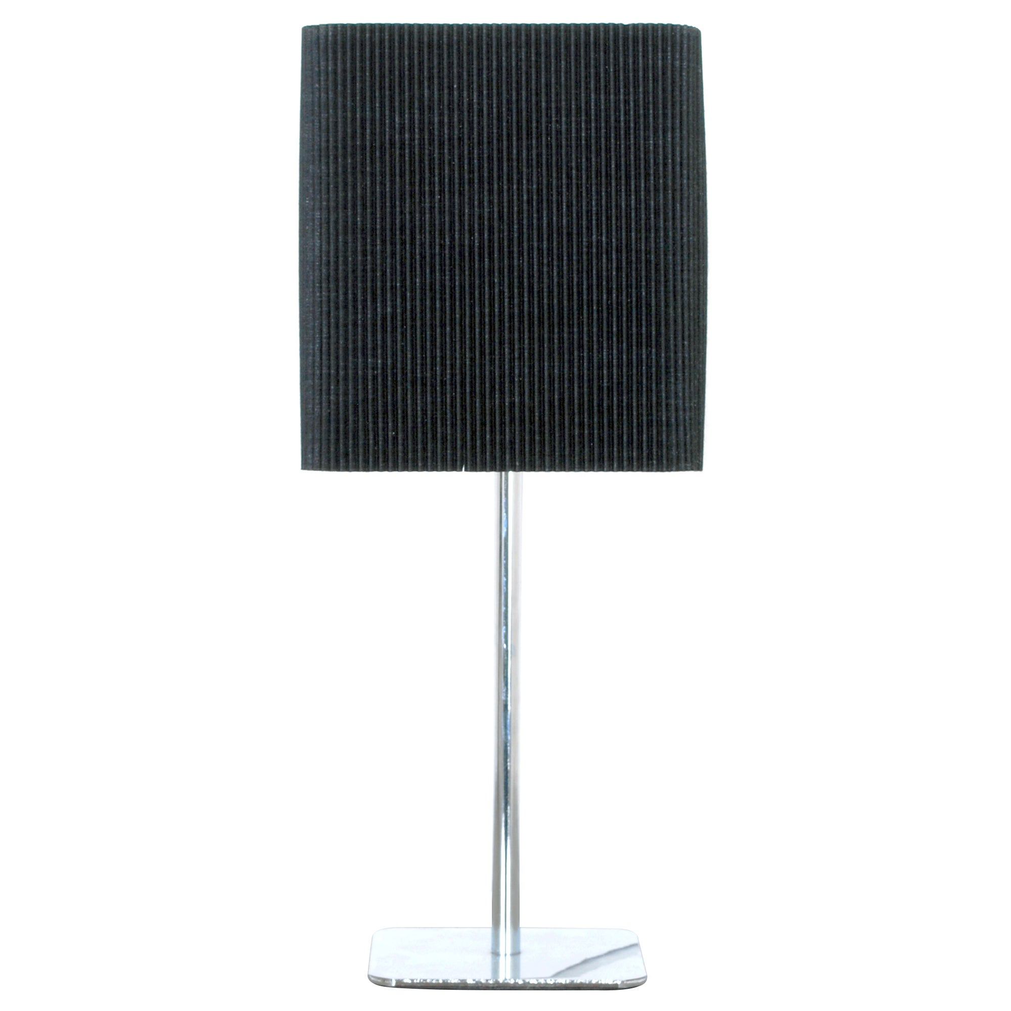 Micro Pleat Chrome Table Lamp