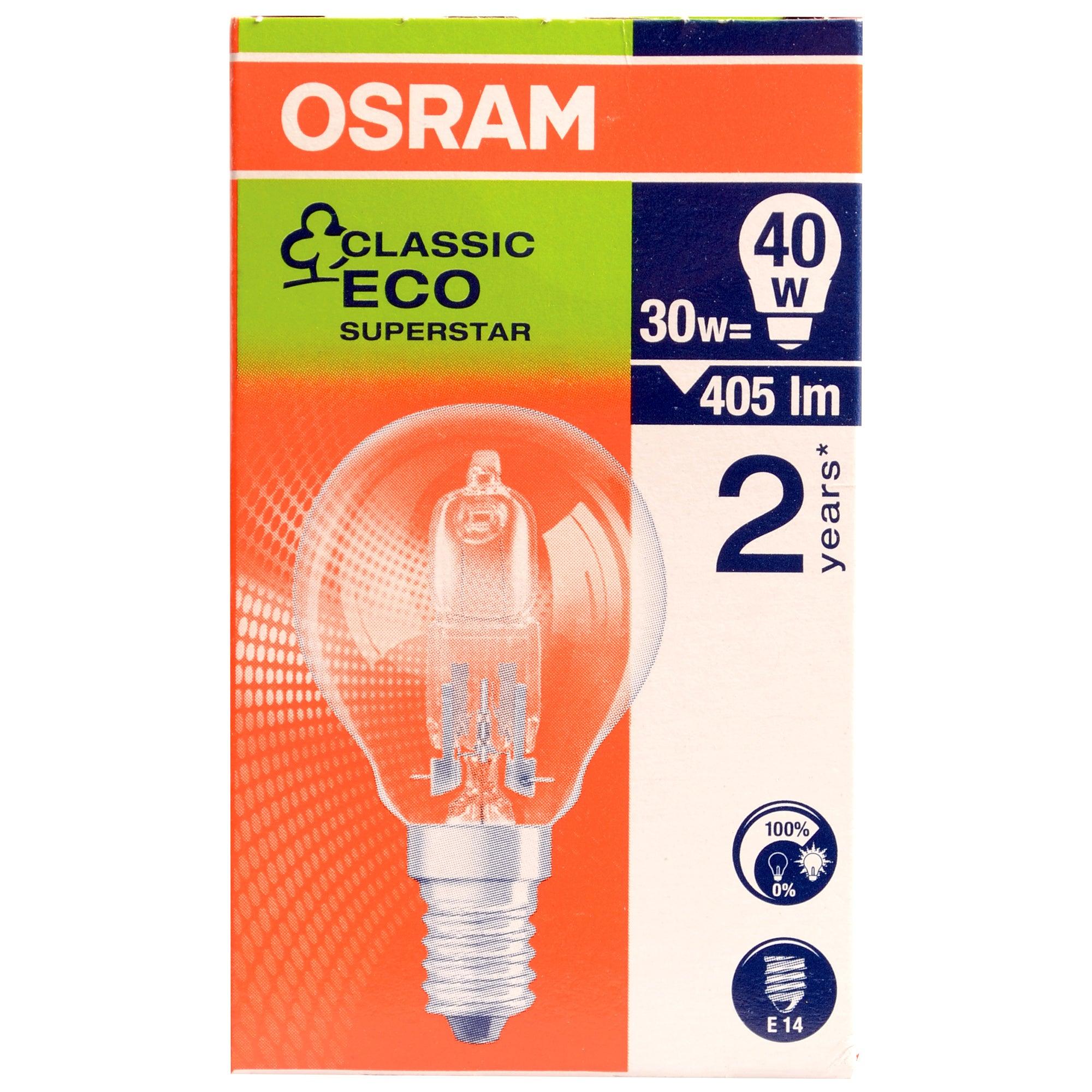 Osram Halogen Eco 30 Watt Golf Ball Bulb