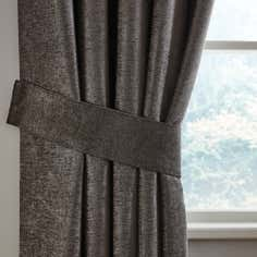 Grey Chenille Curtain Tie Backs