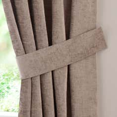 Taupe Chenille Curtain Tie Backs