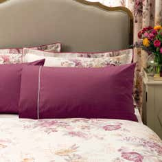 Dorma Pink Camilla Collection Cuffed Pillowcase