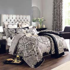Dorma Black Verona Collection Duvet Cover