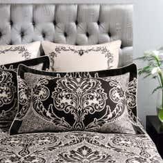 Dorma Black Verona Collection Oxford Pillowcase