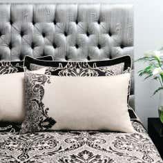Dorma Black Verona Collection Housewife Pillowcase