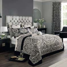 Dorma Black Verona Collection Bedspread