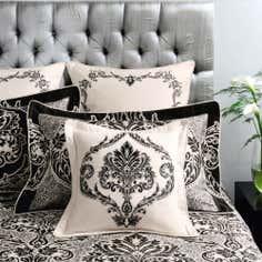 Dorma Black Verona Collection Cushion