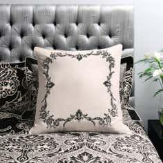 Dorma Black Verona Collection Continental Pillowcase