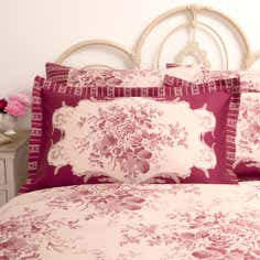 Dorma Red Willoughby Collection Oxford Pillowcase