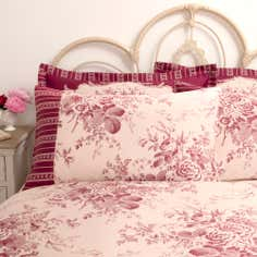 Dorma Red Willoughby Collection Cuffed Pillowcase