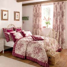 Dorma Red Willoughby Collection Bedspread