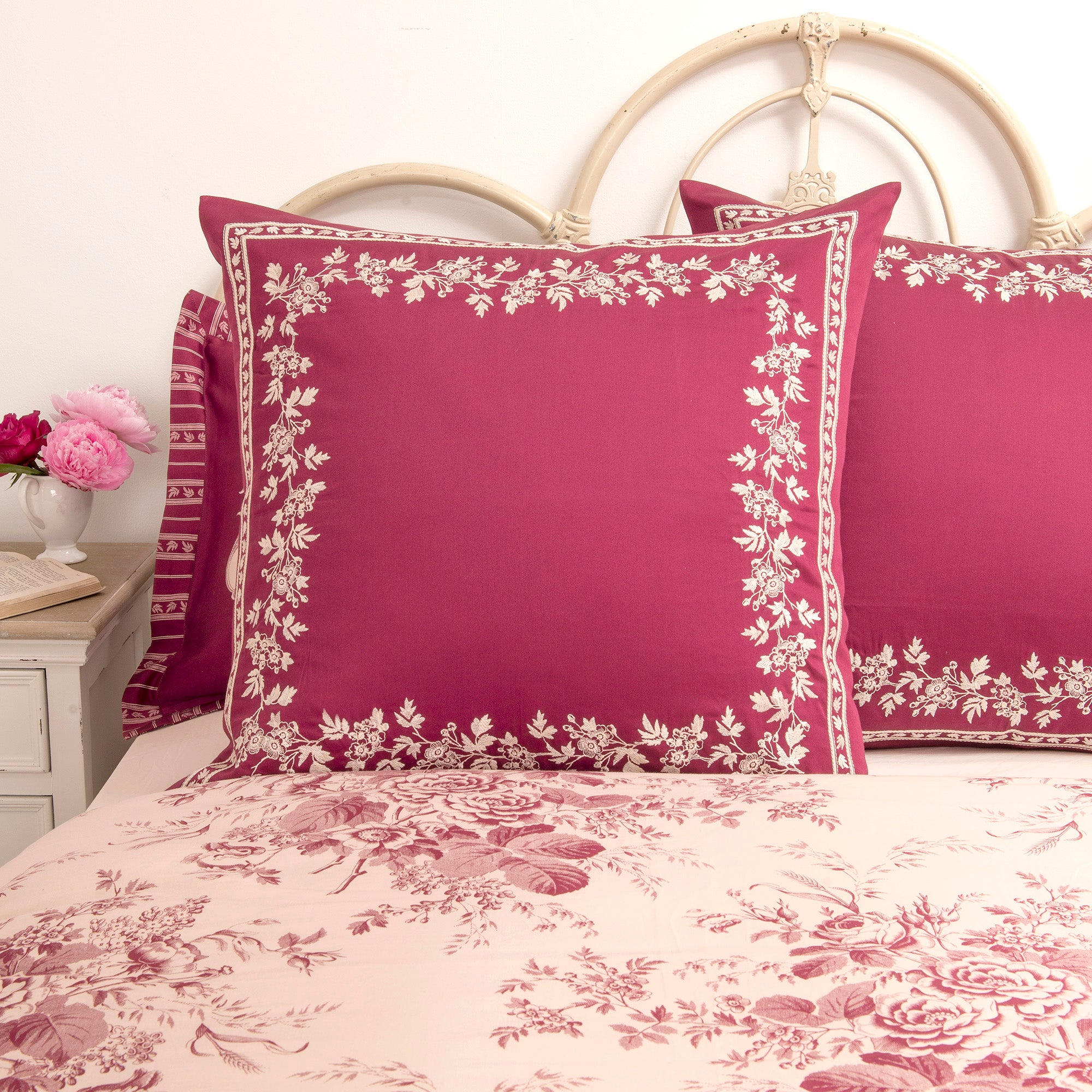 Dorma Red Willoughby Collection Continental Pillowcase