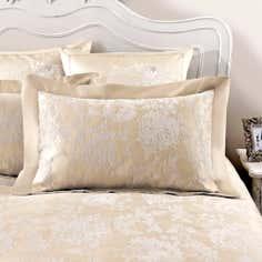 Dorma Gold Clara Collection Oxford Pillowcase