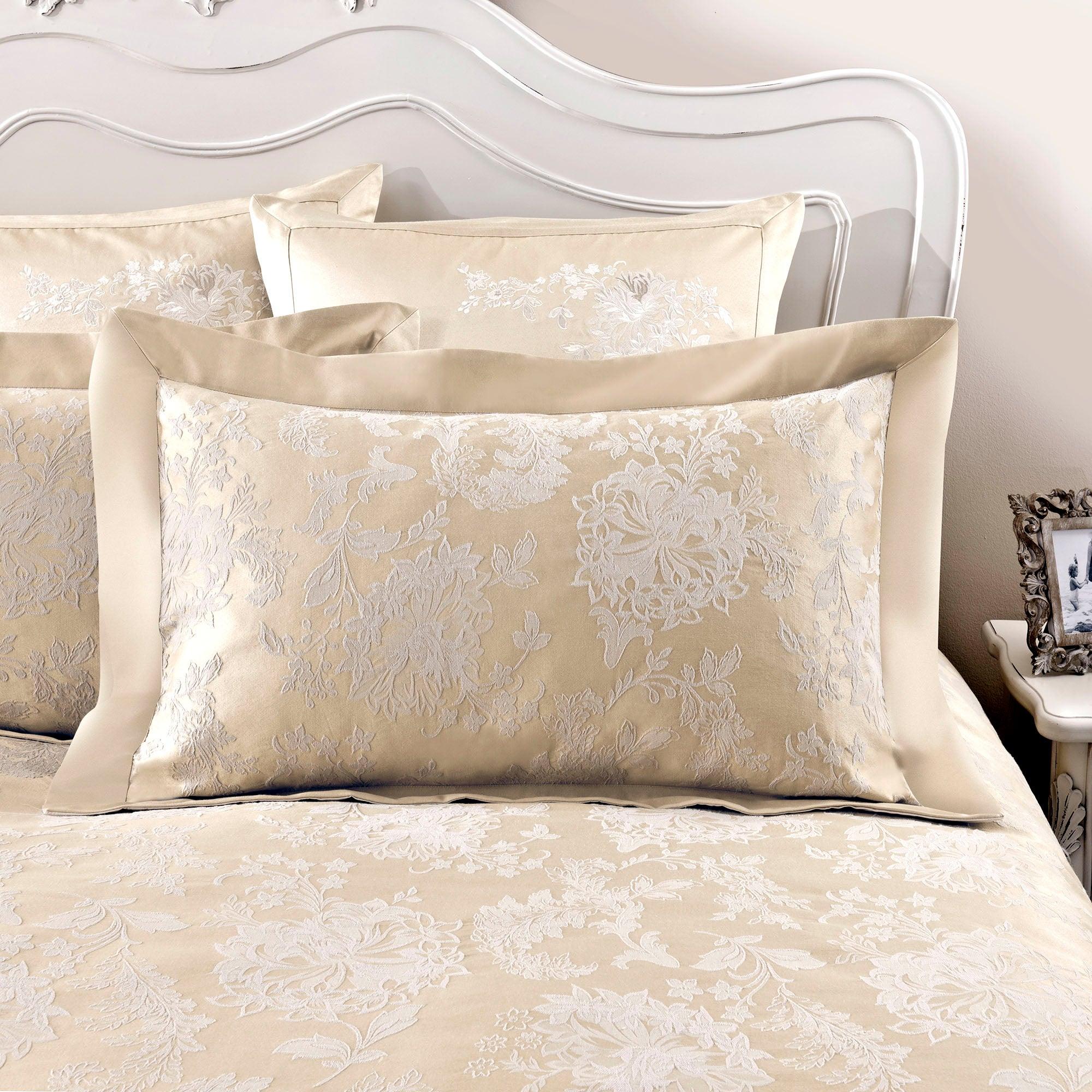 Dorma Cream Clara Collection Oxford Pillowcase