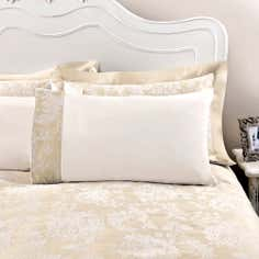 Dorma Gold Clara Collection Cuffed Pillowcase