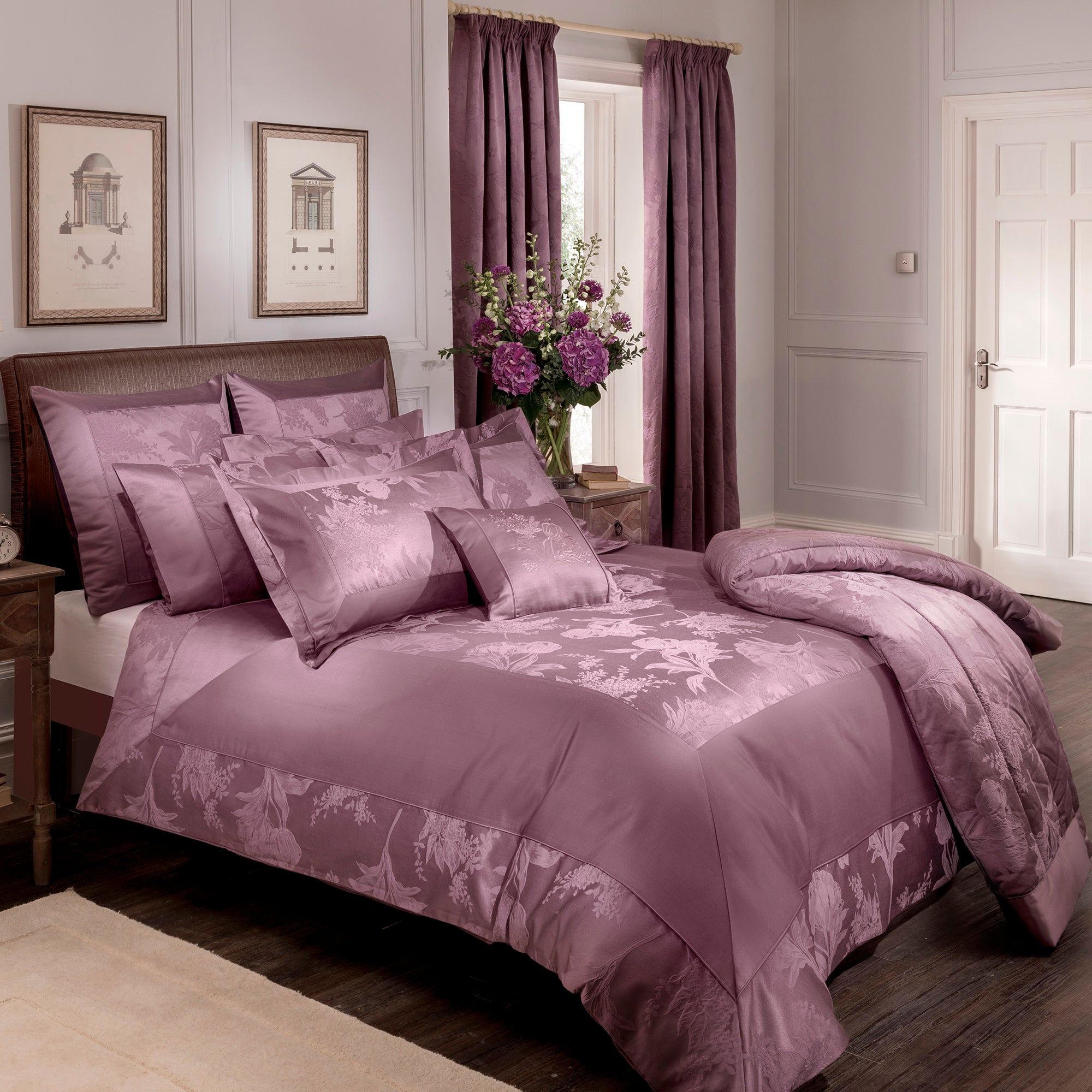 Dorma Plum Jasmina Collection Duvet Cover
