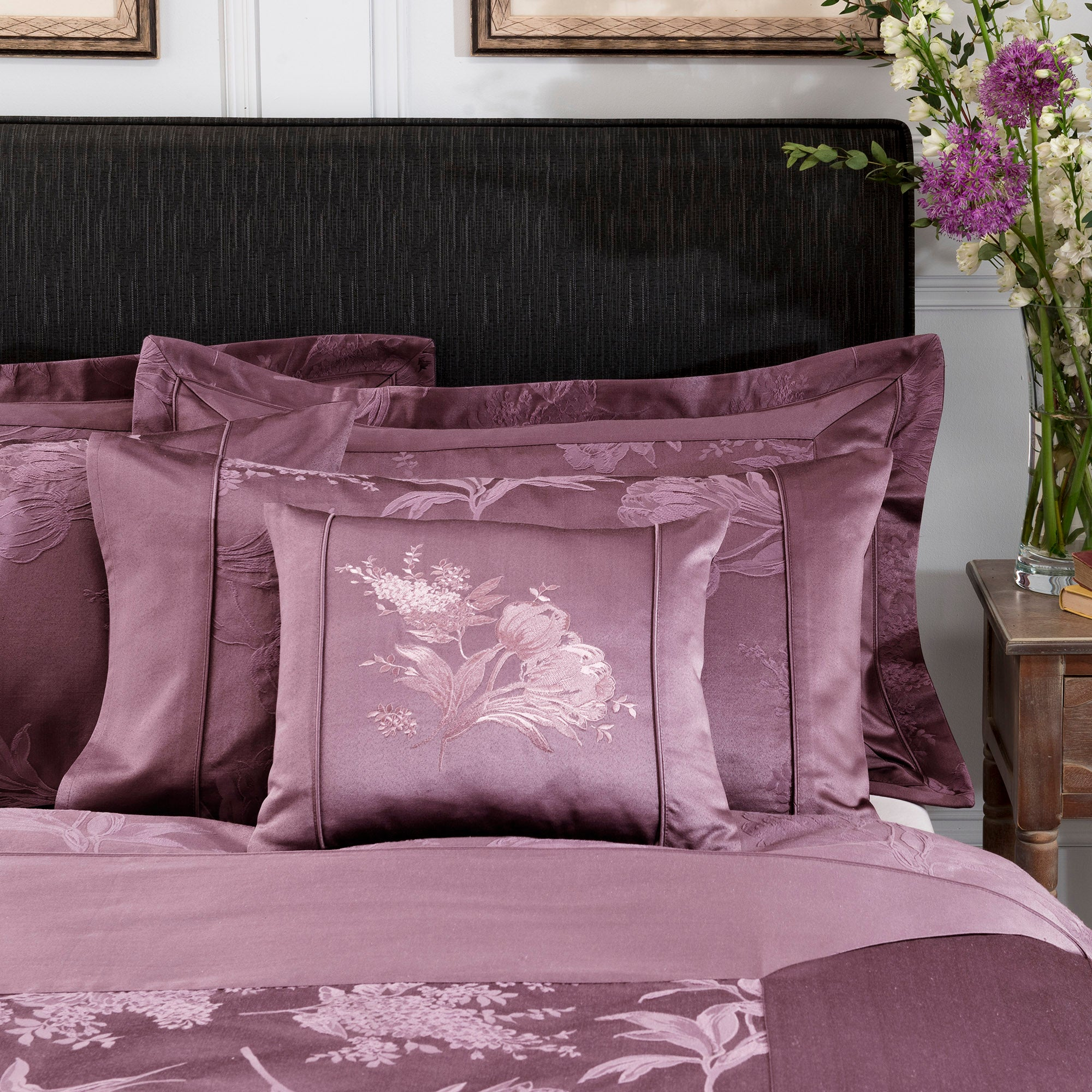 Dorma Plum Jasmina Collection Cushion