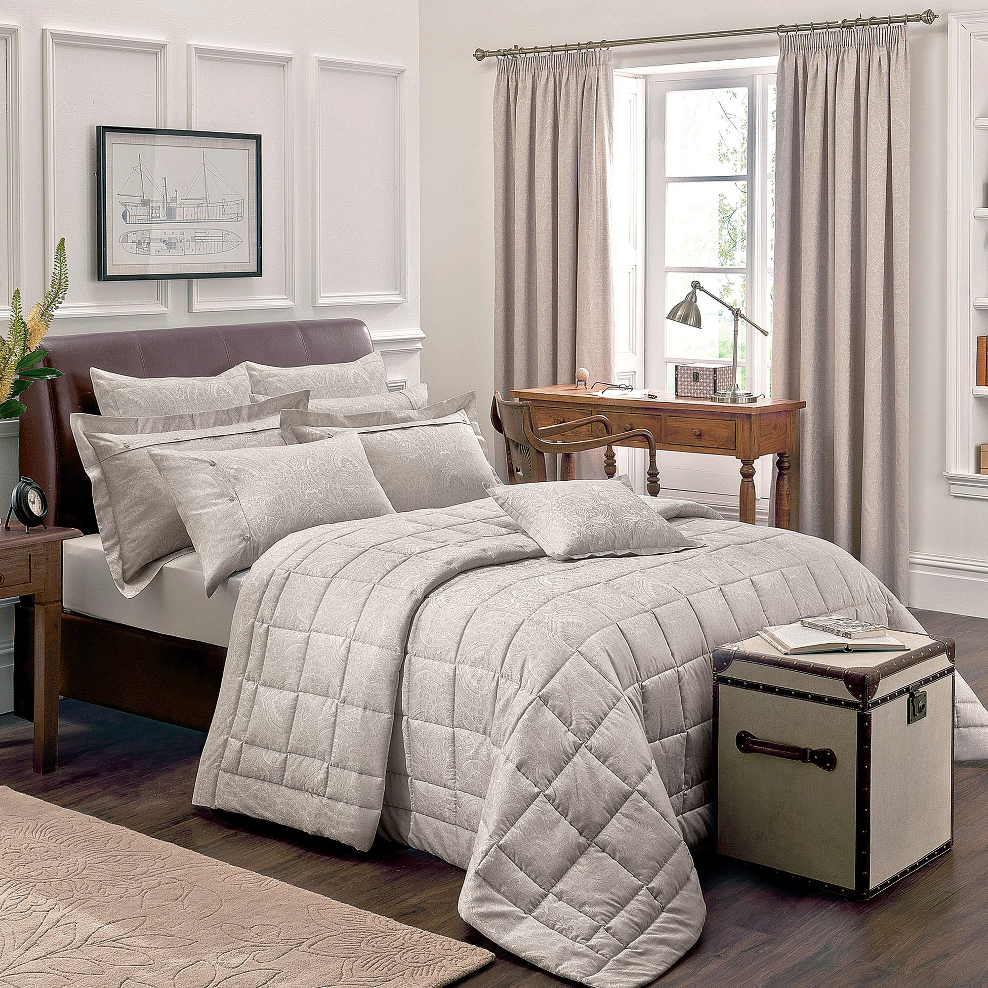 Dorma Natural Paisley Collection Bedspread