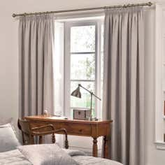 Dorma Natural Paisley Lined Pencil Pleat Curtains