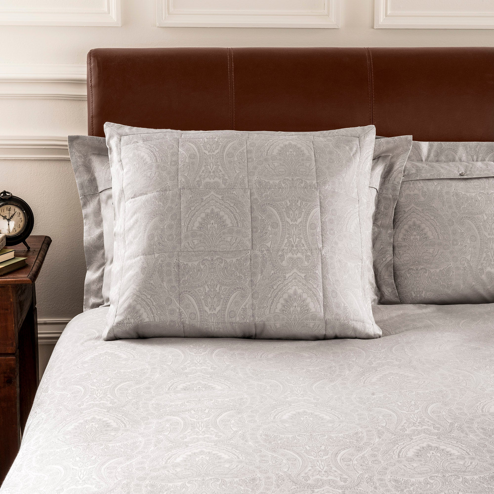 Dorma Natural Paisley Collection Continental Pillowcase