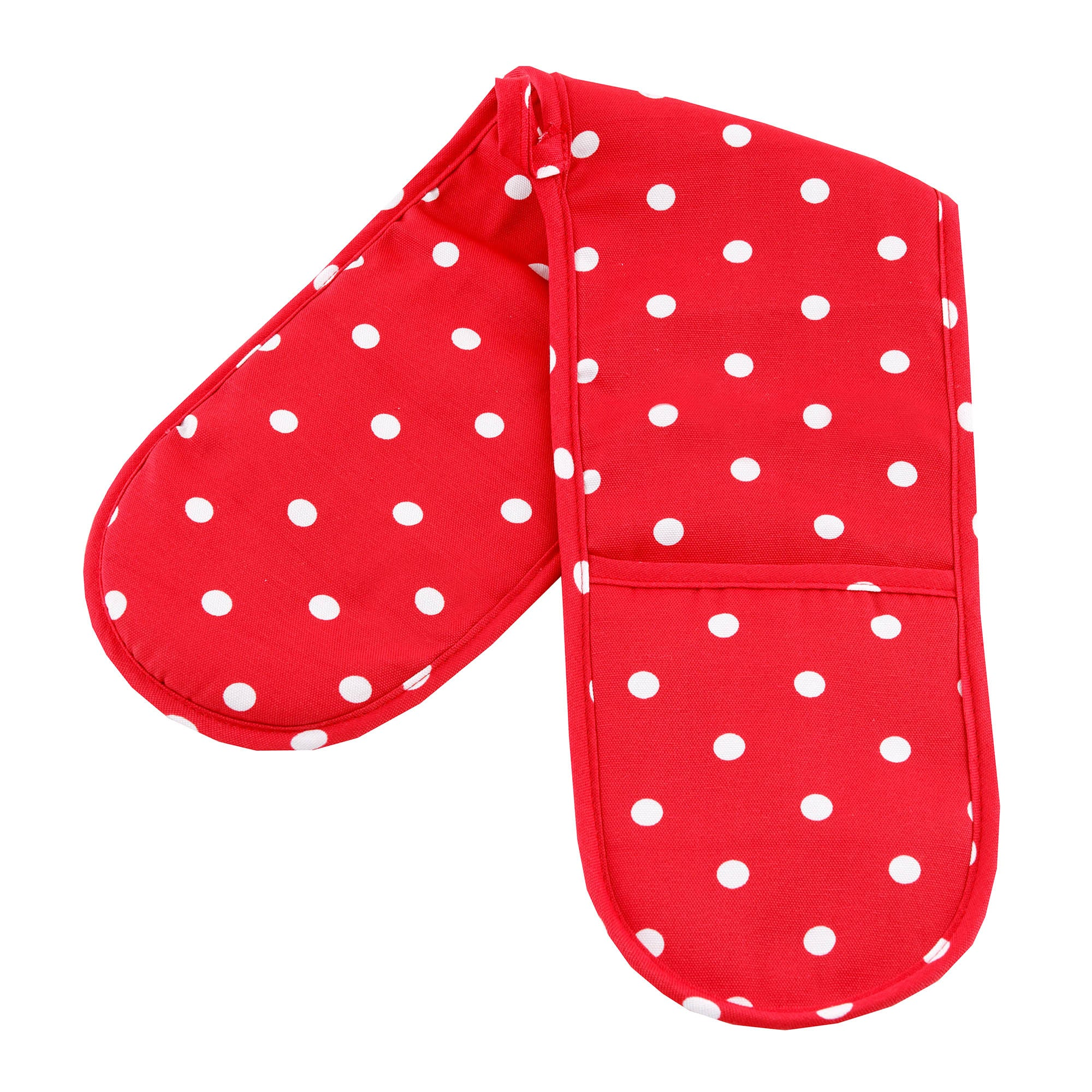 Red Dotty Collection Double Oven Glove