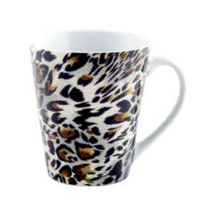 Leopard Print Conical Mug