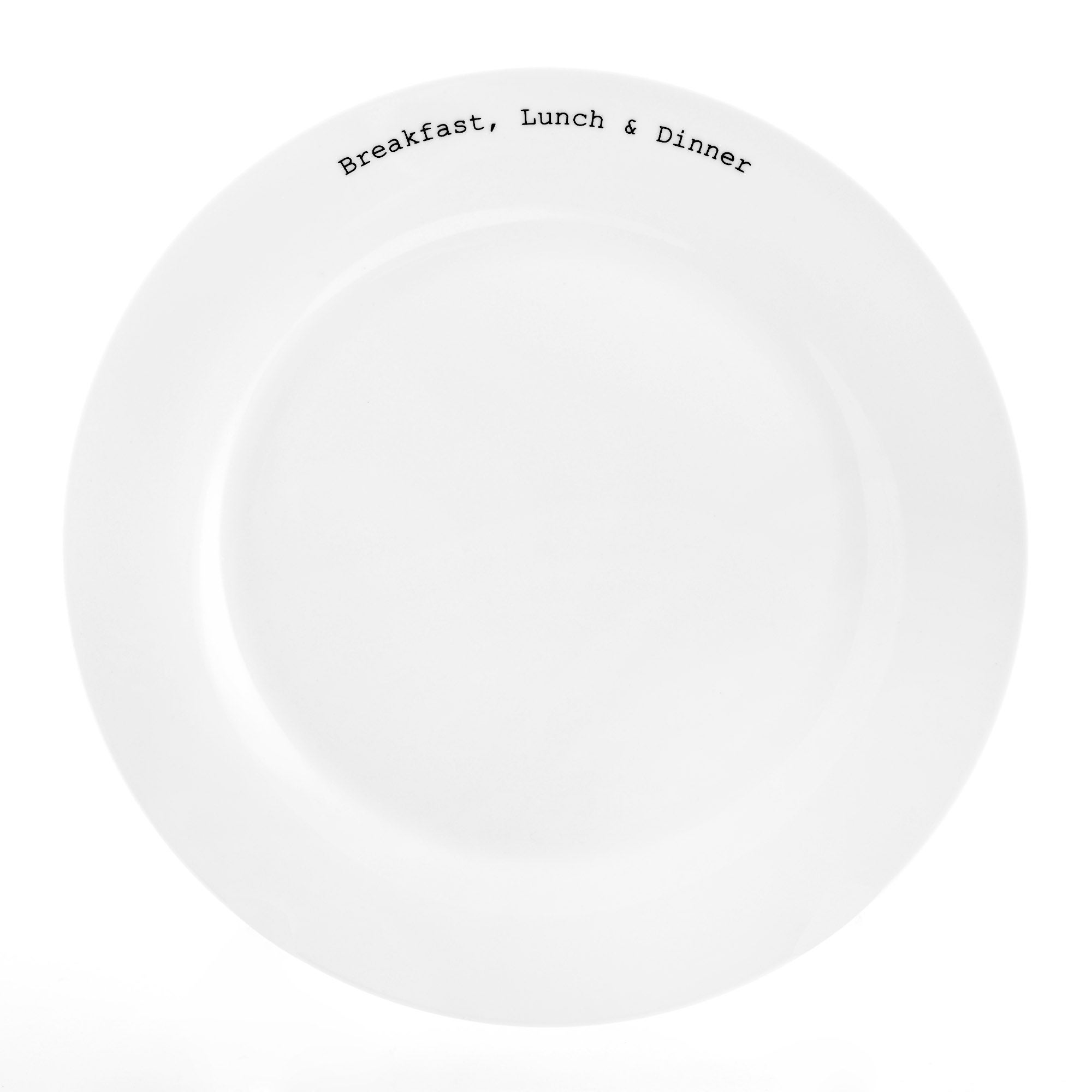 Text Collection Dinner Plate