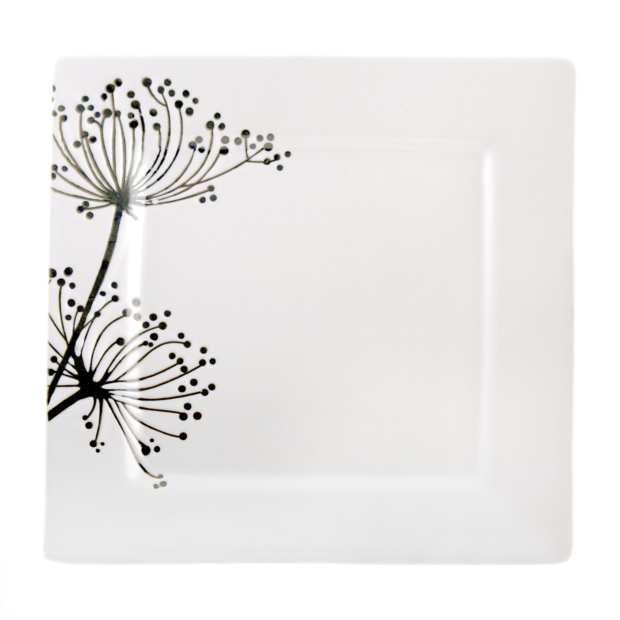 Square Sprig Collection Dinner Plate