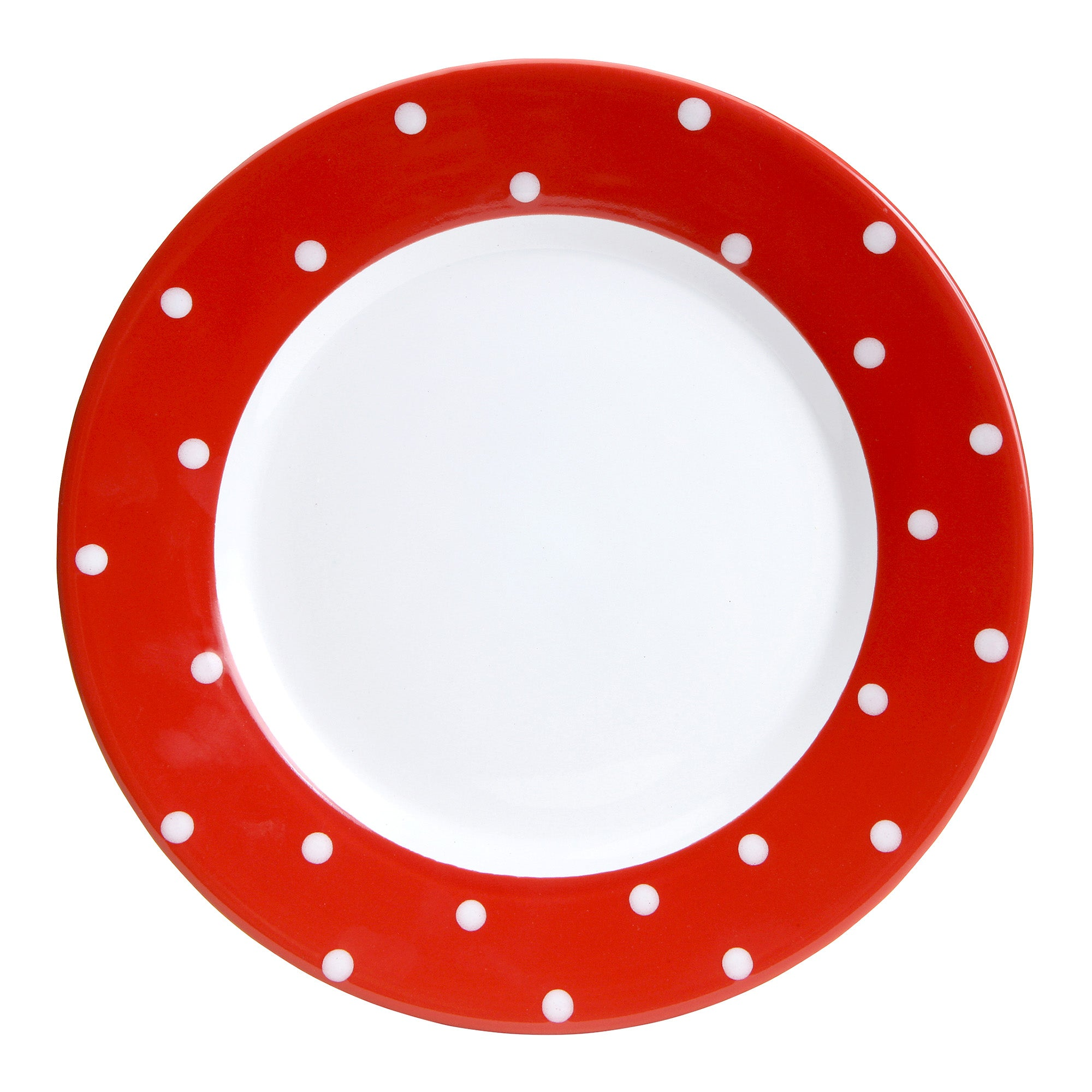 Farmstead Collection Red Dotty Dinner Plate