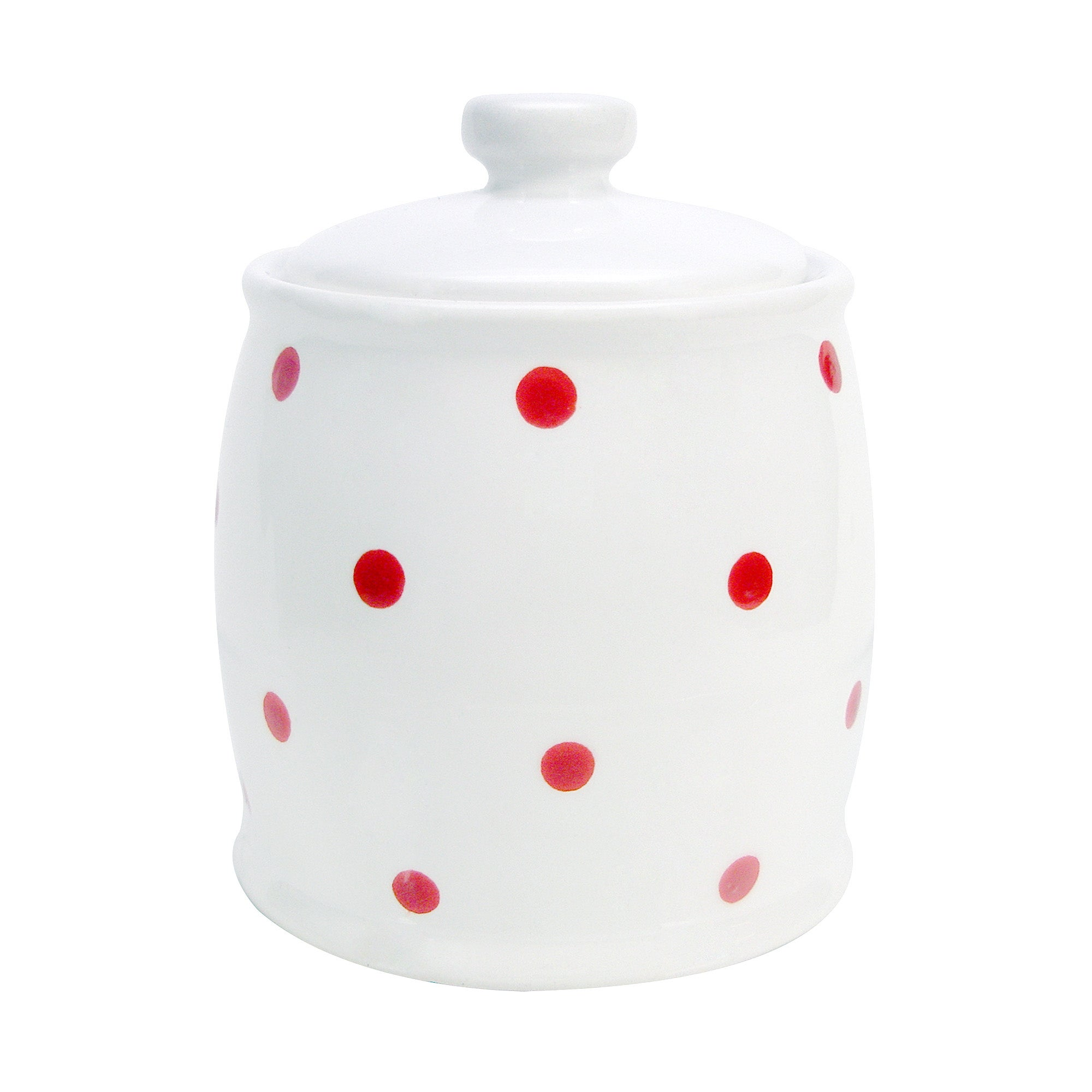 Farmstead Collection White Dotty Sugar Bowl