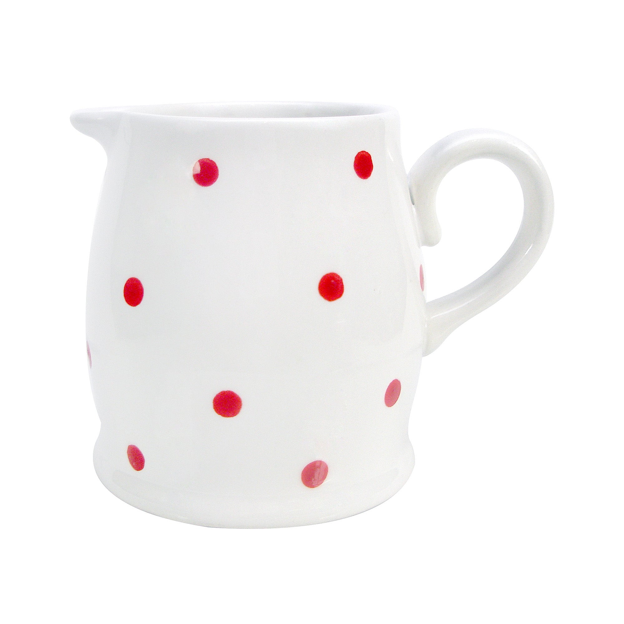 Farmstead Collection White Dotty Creamer