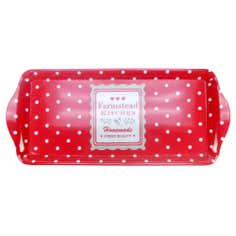 Farmstead Collection Red Dotty Small Tray