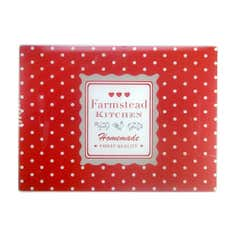 Farmstead Collection Red Dotty Glass Worktop Saver