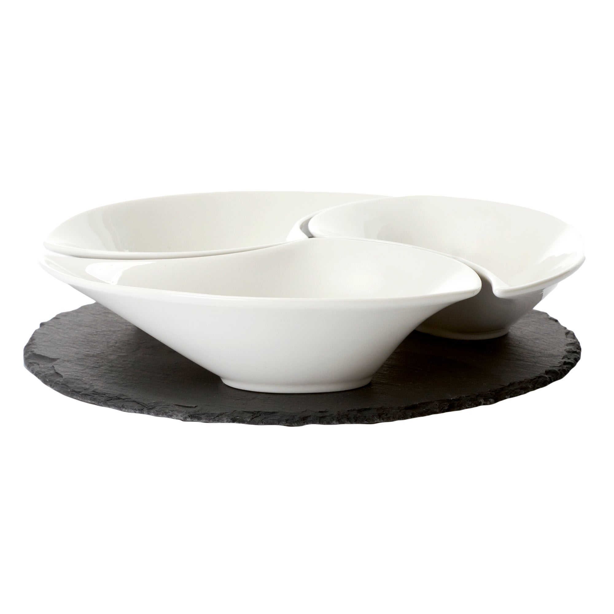 Slate Serving Tray and Bowls Set