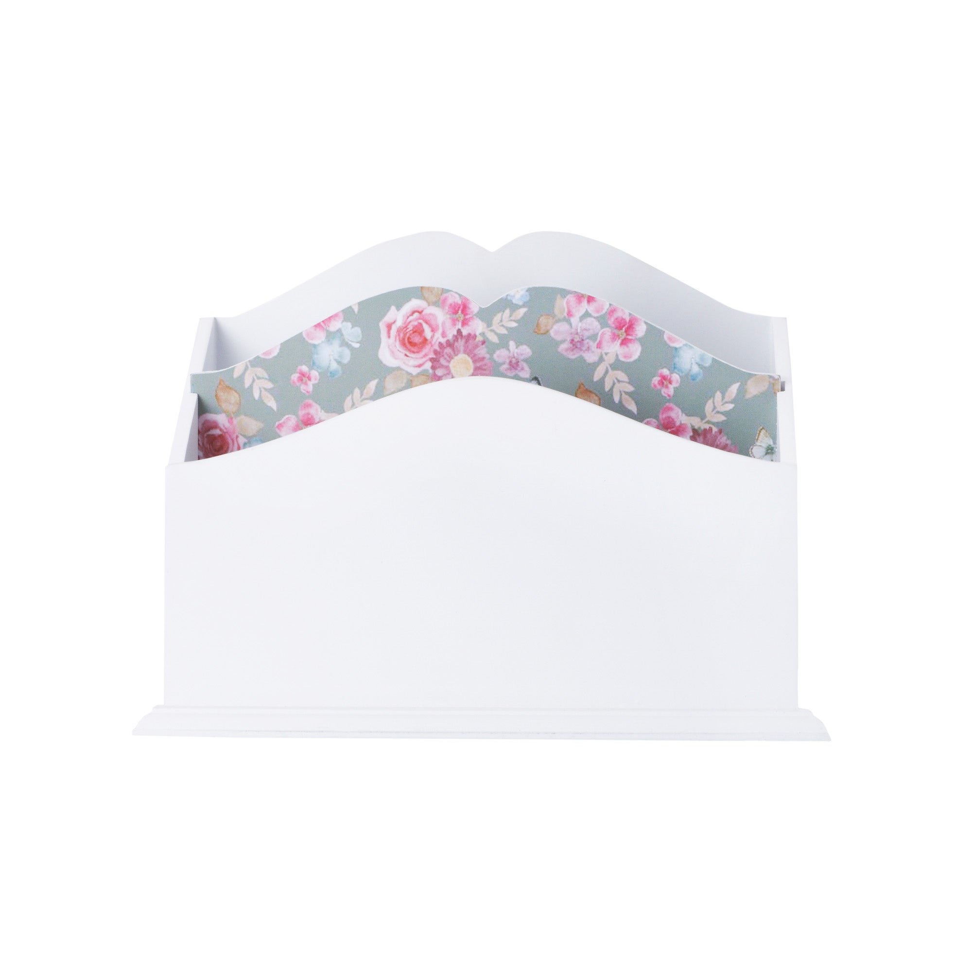 White Flora Collection Letter Rack