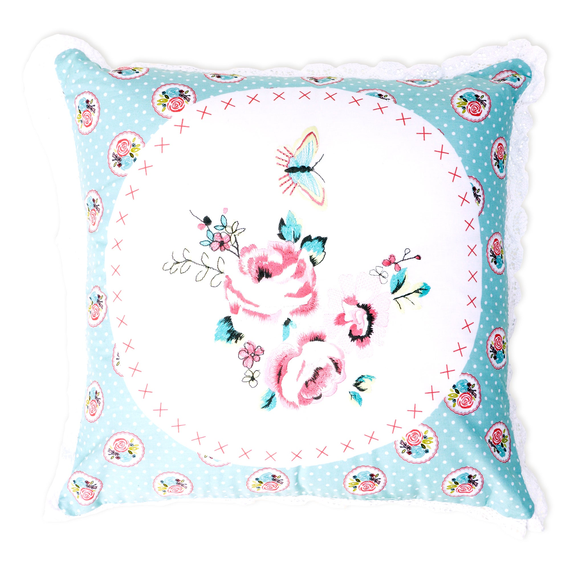 Vintage Rose Collection Square Cushion