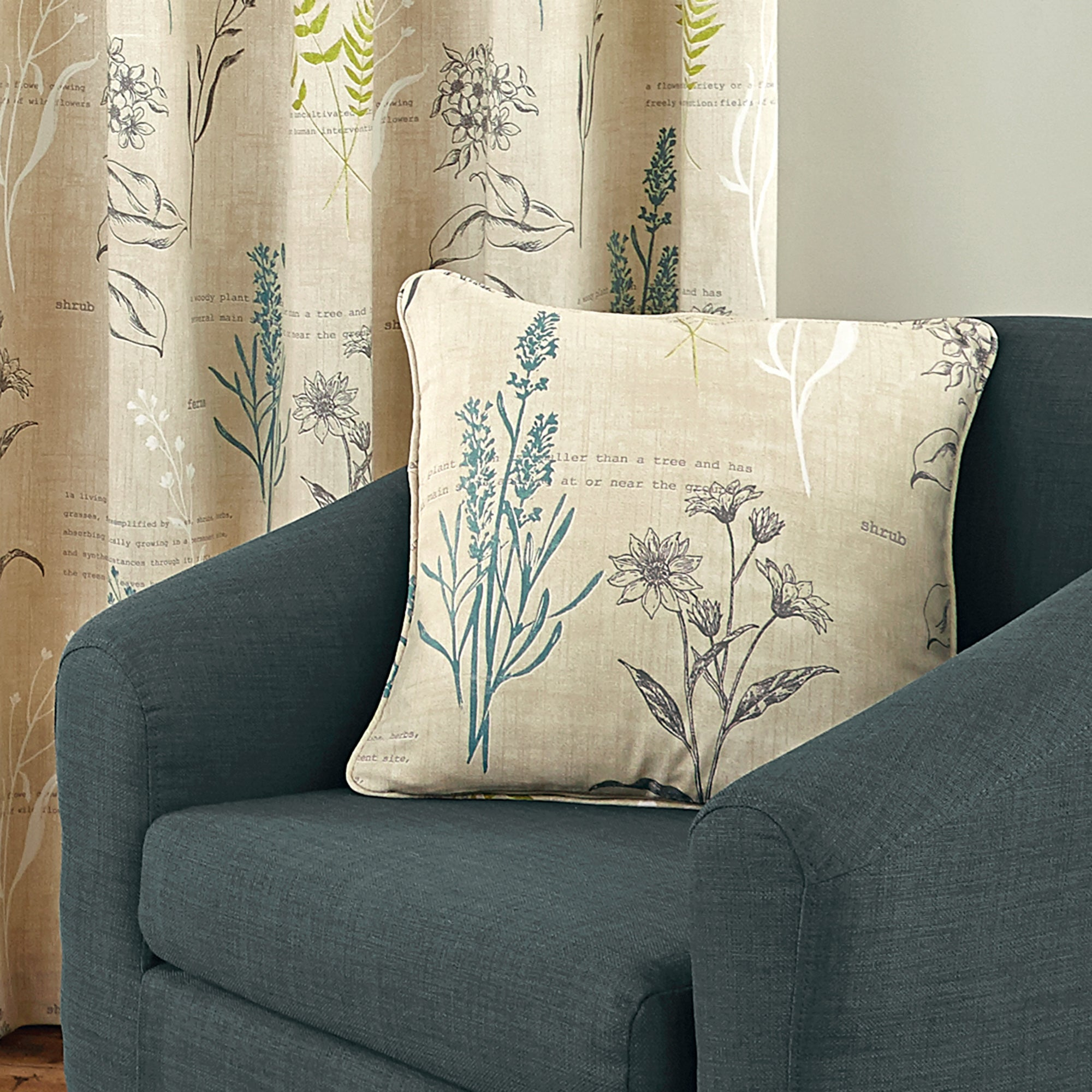 Green Meadow Collection Piped Cushion