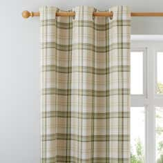 Green Balmoral Lined Eyelet Curtains
