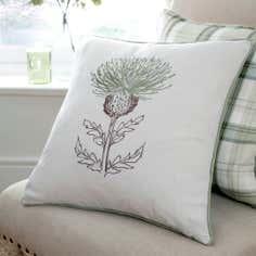 Green Balmoral Collection Thistle Cushion
